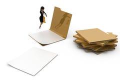 mujer 3d que mira en concepto de los ficheros Fotos de archivo libres de regalías