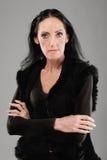 Mujer dark-haired mayor imagen de archivo