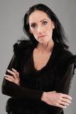 Mujer dark-haired mayor Foto de archivo libre de regalías