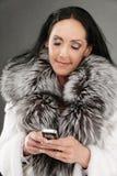 Mujer dark-haired mayor Imágenes de archivo libres de regalías