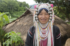 Mujer de Akha en Tailandia norteña Imagen de archivo libre de regalías