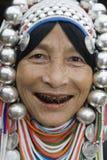Mujer de Akha en Tailandia norteña Imagen de archivo