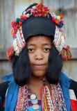 Mujer de Akha, Phongsaly, Laos Fotos de archivo