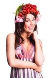 Mujer de Bautiful con la decoración del pelo del tulipán Fotos de archivo