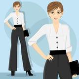 Mujer de carrera Foto de archivo