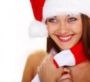 Mujer de Christmass Foto de archivo libre de regalías