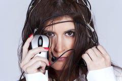 Mujer de Cibernetic Foto de archivo libre de regalías