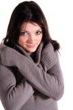 Mujer de congelación Imagen de archivo
