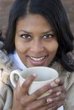 Mujer de consumición Imágenes de archivo libres de regalías