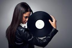 Mujer de DJ imágenes de archivo libres de regalías