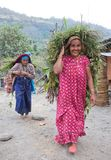 Mujer de dos Gorkhas Imagen de archivo libre de regalías