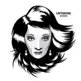 Mujer de fascinación ilustración del vector