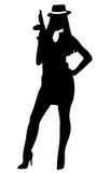 Mujer de Gangstar Imagen de archivo libre de regalías