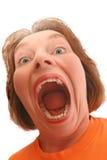 Mujer de griterío Foto de archivo