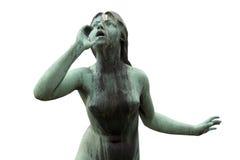 Mujer de grito - aislada Imagen de archivo libre de regalías