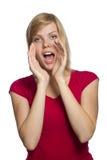 Mujer de grito joven hermosa imagen de archivo libre de regalías