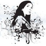 Mujer de Grunge Imágenes de archivo libres de regalías