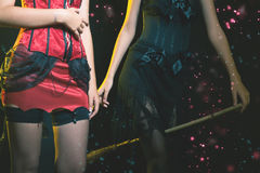 ¡Mujer de hadas de la moda que celebra Halloween o Año Nuevo! Imagenes de archivo