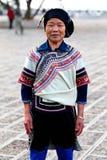 Mujer de Hani, China Fotografía de archivo libre de regalías