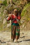Mujer de Himalaya fotografía de archivo