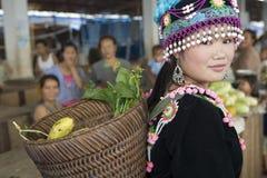 Mujer de Hmong en Laos Foto de archivo