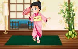 Mujer de Japaness Imagen de archivo libre de regalías