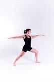 Mujer de la aptitud de la yoga Imagenes de archivo