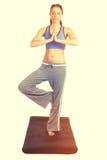 Mujer de la aptitud de la yoga fotografía de archivo