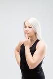Mujer de la aptitud del pelo rubio Fotografía de archivo libre de regalías
