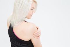 Mujer de la aptitud del pelo rubio Imagen de archivo libre de regalías