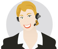 Mujer de la atención al cliente Foto de archivo libre de regalías