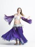 Mujer de la bailarina de la danza del vientre Imágenes de archivo libres de regalías