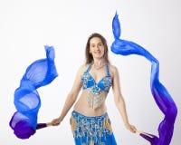 Mujer de la bailarina de la danza del vientre Fotografía de archivo