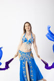 Mujer de la bailarina de la danza del vientre Imagen de archivo