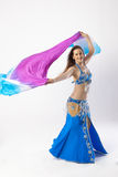 Mujer de la bailarina de la danza del vientre Fotos de archivo