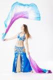 Mujer de la bailarina de la danza del vientre Fotografía de archivo libre de regalías
