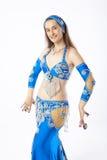 Mujer de la bailarina de la danza del vientre Foto de archivo