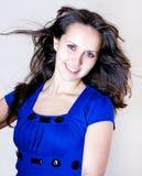 Mujer de la belleza con los ojos azules Imagenes de archivo
