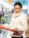 Mujer de la belleza en alameda de compras Fotografía de archivo libre de regalías