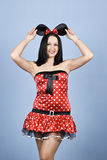 Mujer de la belleza en coustume atractivo del ratón Fotografía de archivo libre de regalías