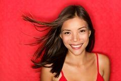Mujer de la belleza feliz Fotografía de archivo libre de regalías