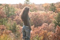 Mujer de la caída Fotografía de archivo