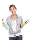 Mujer de la casa de la limpieza Fotos de archivo