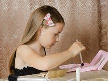 Mujer de la chica joven de la moda Imágenes de archivo libres de regalías