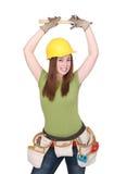 Mujer de la construcción fotos de archivo