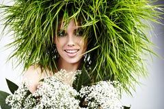 Mujer de la ecología, concepto verde Imagen de archivo libre de regalías