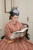 Mujer de la era de la guerra civil Imágenes de archivo libres de regalías