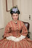 Mujer de la era de la guerra civil imagen de archivo