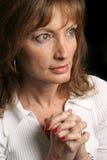 Mujer de la fe Foto de archivo libre de regalías