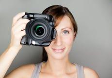 Mujer de la foto Imagen de archivo libre de regalías